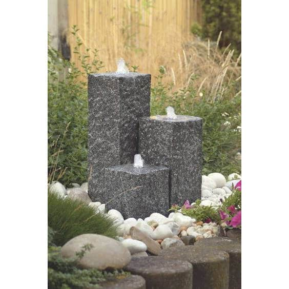 Siena 3 granitpelare dekorset
