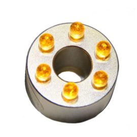 LED-ring, gula dioder