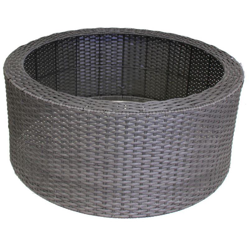 Wicker dekorkant för 150 L plastkar