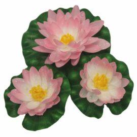 Näckros i silke 3-pack rosa