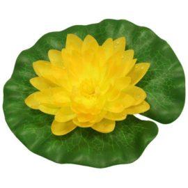Näckros i silke gul