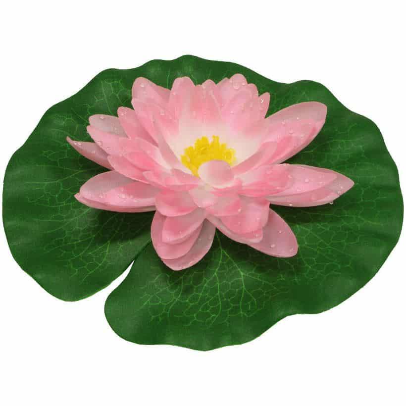 Näckros i silke rosa