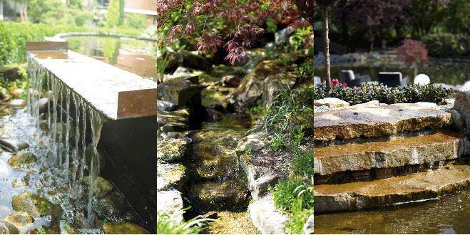 Bäck och vattenfall, miljöbild