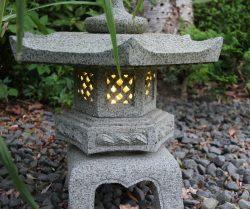 Miljöbild lykta med lampa