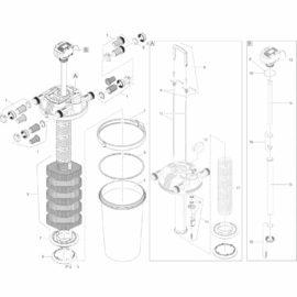 Metallstång FiltoClear 15/20/30000