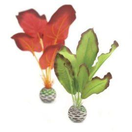 Silkesplantor i set grön/röd S