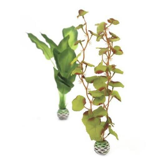 Silkesplantor set M, gröna