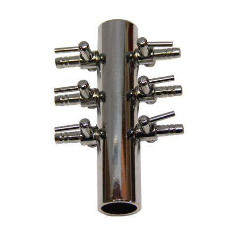 Luftfördelare 6-vägskran., 4 mm