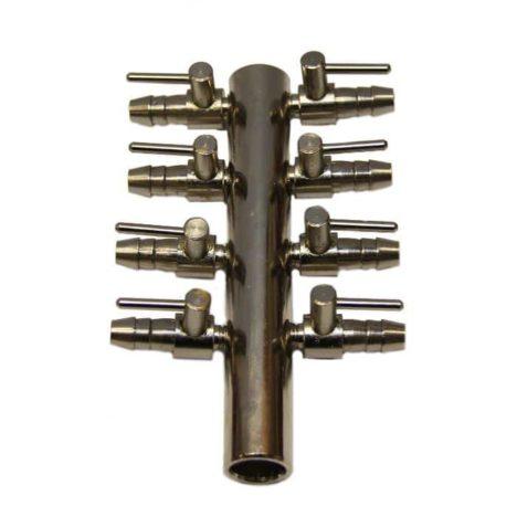 Luftfördelare 8-vägskran, 9 mm