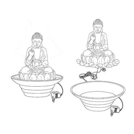 Inomhusfontän, Buddah med skål