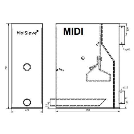 Skimmer Sieve Midi
