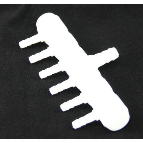 Luftfördelare 6 utgångar 4 mm