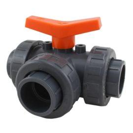 3-vägs ventil L-port med union 25 mm