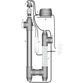Ozone redox UV-C 75 W, inkl luftpump och mixer
