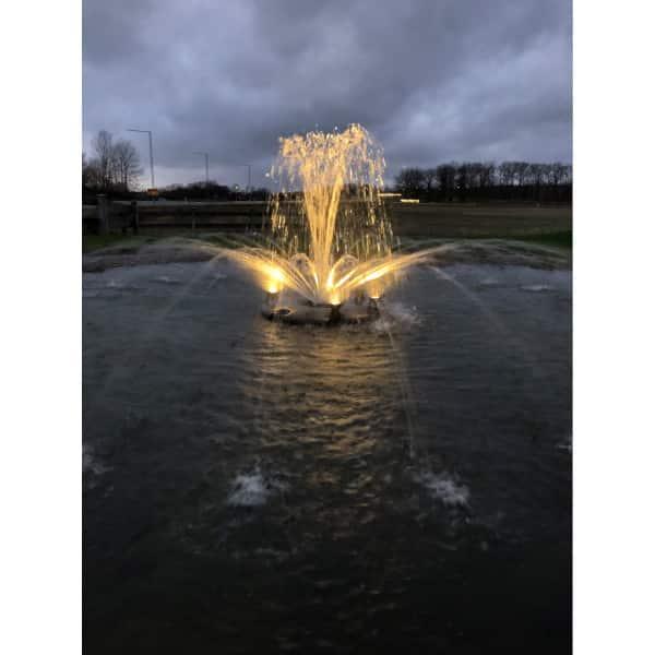 Flytande fontän 60000, belysning