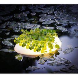 Flytande belysning med planteringskorg